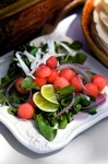 Fresh Greens with Watermelon & Lime