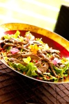 Sirloin Beef Salad with Fresh Mango Dressing and Toasted Cashews