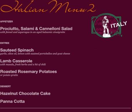 Italian Menu 2